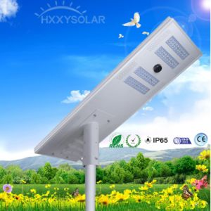 High Brightness 80W All in One Integrated Solar LED Street Light with PIR Sensor pictures & photos