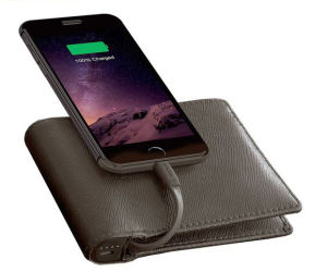 Real Leather Wallet Rechargeable Purse Rechargeable Notecase Rechargeable Burse with Power Bank Inside (YSX03) pictures & photos