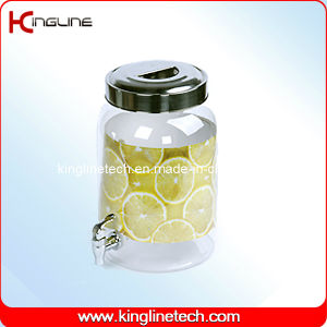 2.2g Round Plastic Water Jug Wholesale BPA Free with Spigot (Kl-8014) pictures & photos