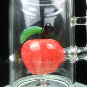 Glass Bubbler Water Smoking Pipes with Red Apple pictures & photos