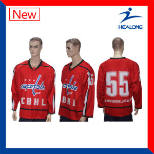 Healong Sublimation Colorful Ice Hockey Jerseys pictures & photos