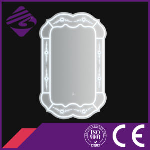 Jnh226 Home Hot Sale Oval Bathroom Furniture Mirror with Clock pictures & photos