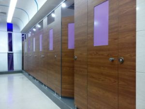 European Style Toilet Cubicle Made by HPL Panel pictures & photos