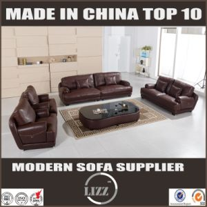 2017 Italy Unique Genuine Leather Sofa with Coffee Table pictures & photos