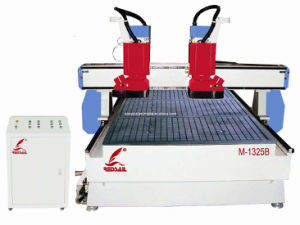 High Power Spindle Woodworking CNC Router with Double Spindles Redsail (M-1325B)
