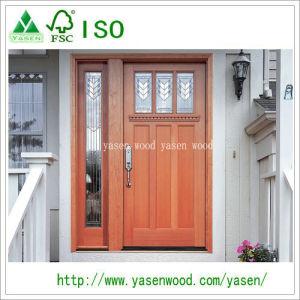 Glazed Unequal 100% Solid Exterior Wooden Door