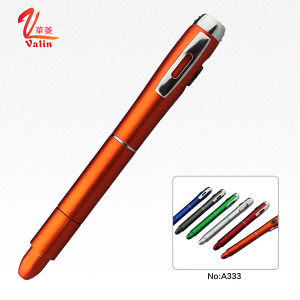 Fashion Multi-Functional Plastic Pen Promotional Plastic LED Light Pen pictures & photos