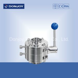 Stainless Steel Manual Double Mixproof Butterfly Valve a pictures & photos