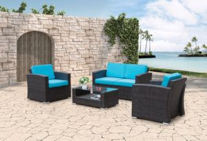 Patio Wicker Home Hotel Office Restaurant Garden Maryland Lounge Sofa Set (J667) pictures & photos