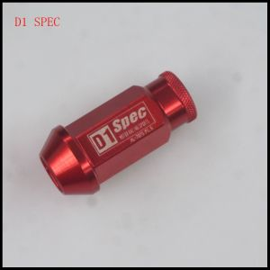 D1 Spec 7075 Aluminum Red Racing Car Wheel Lock Nuts.