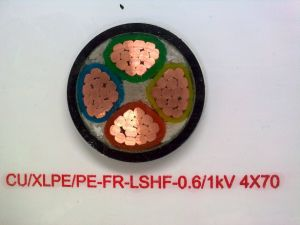 Fr-Lshf Fire Retardant Cable Cu/XLPE/PE 0.6/1kv 4*70 Cable pictures & photos