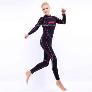 Women`S Long Neoprene Surfing Wetsuit with Black Nylon Both Sides (HX-L0172) pictures & photos