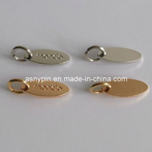 Gold and Silver Small Metal Tags, Jewelry Logo Tags, Oval Shaped pictures & photos
