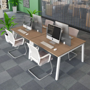 Office Workstation in Wooden Tabletop for Collaborative System pictures & photos