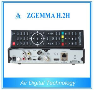 Combo Decoder Zgemma H. 2h with DVB-S2 + DVB-T/T2/C Hybrid Receiver pictures & photos