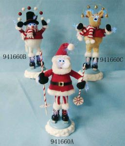 Christmas Fiber Optic Figure (Snowman, Milu Deer, Santa Claus)