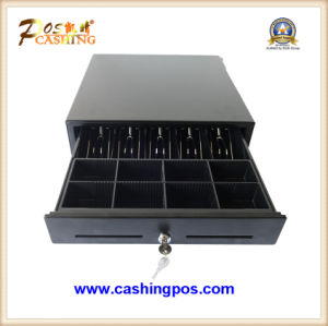 Electronic Cash Drawer 4-Bill with Metal Wire Grips for POS System Terminal