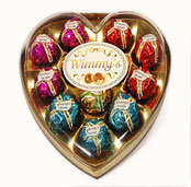 12 Pieces Colorful Heart Chocolate (H12C)