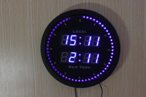 World Time LED Digital Clock pictures & photos