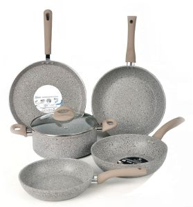 Marble Stone Coated Cookware Sets, Heat Resistant pictures & photos