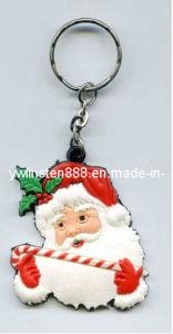 2D Santa Claus Soft PVC Keychain