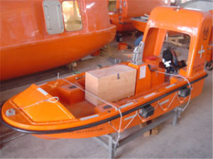 6 Persons Orange Fast Rescue Boat with High Speed 25knots pictures & photos