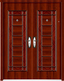 Double Stainless Security Steel Door (steel door) pictures & photos