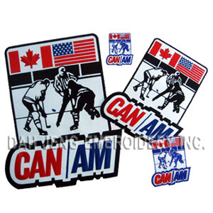 Ice Hockey Game Embroidered Patches Including One 3D Embroidered Emblem pictures & photos