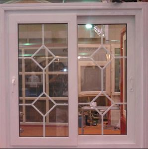 White PVC Frame Sliding Window with Double Glass