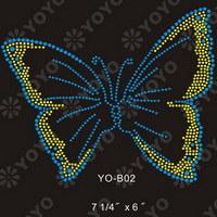 Hotfix Rhinestone Motif----Butterfly(YO--B001)