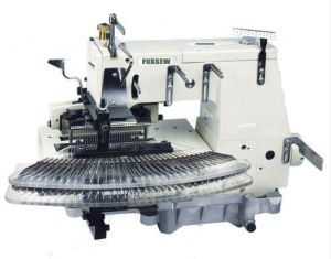 Flat-Bed Double Chainstitch Sewing Machine (tuck fabric seaming) pictures & photos