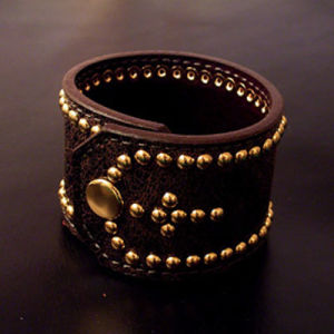 Leather Wristband (ALB-003)