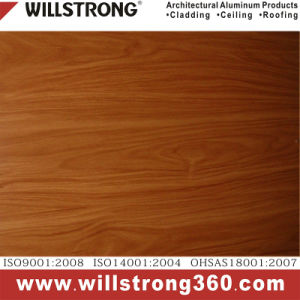 4mm PVDF Coated Aluminium Composite Panel Wood Color pictures & photos