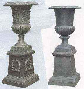 Cast Iron Urn on Base (2-176) pictures & photos