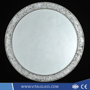 Silver/Aluminum/Copper Free/Safety/Decoration Mirror Glass for Bathroom Mirror pictures & photos