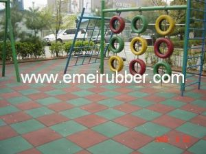 Bounce Back Playground Rubber Tiles pictures & photos