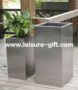 Fo-9006stainless Steel Flower Pot Square Flower Container pictures & photos