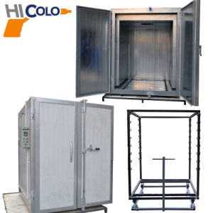 12kw Powder Coating Curing Oven with Manual Cart pictures & photos