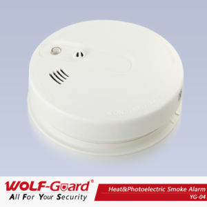 Fire Alarm Wireless Smoke Detector 433MHz Work Standalone or Linked with Alarm Systems pictures & photos