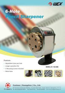 6 Hole Plastic Hand Crank Sharpener(91-1142-00)
