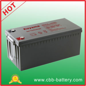 CE Certified 220ah 12V Gel Battery Marine Battery Npg220-12 pictures & photos