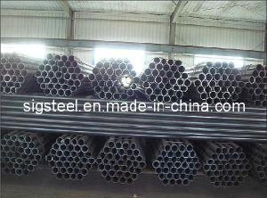 ERW Black Round Steel Pipe Tube pictures & photos
