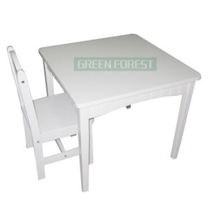 Oak Wooden White Study Table