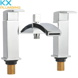 Two Handle Bath Mixers Bathroom Faucets pictures & photos