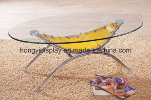 Round Shape Glass Tea Table pictures & photos
