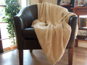 Ribbed Micro Chenille Throw for Home pictures & photos