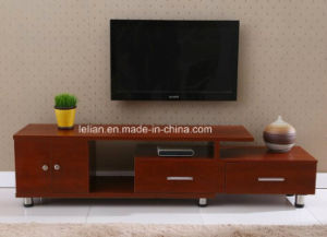 Reclaimed Modern Design Oak Veneer Long Wood TV Cabinet with Showcase pictures & photos