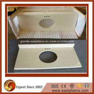 High Quality New Design White/Black/Red/Yellow/Golden Bathroom Vanity Top pictures & photos