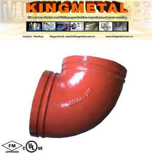 "90 Degree FM / UL Approved 3"" Cast Iron Elbow Fitting pictures & photos"