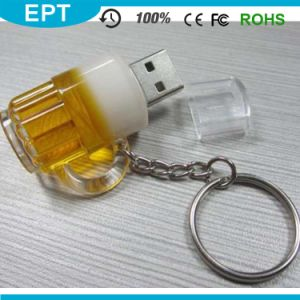 Plastic Oil Keychain Bottle Shape USB Flash Drive for Gift pictures & photos